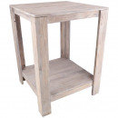 Wood table Franz, square, 60x60cm, H80cm, whi